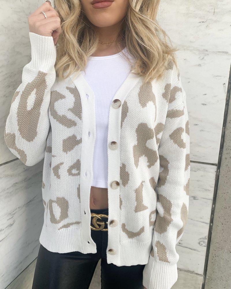 Nouveau Noir Elisha Leopard Cardigan