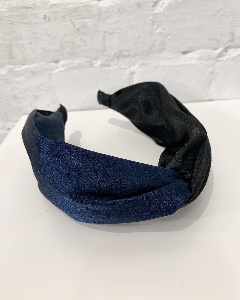 Nouveau Noir Phoebe Headband Black/Navy Blue