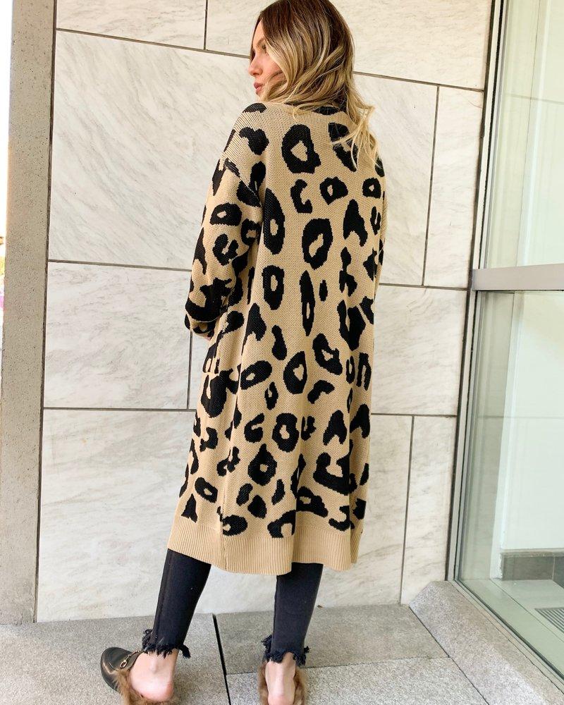 Nouveau Noir Talia Leopard Long Cardigan