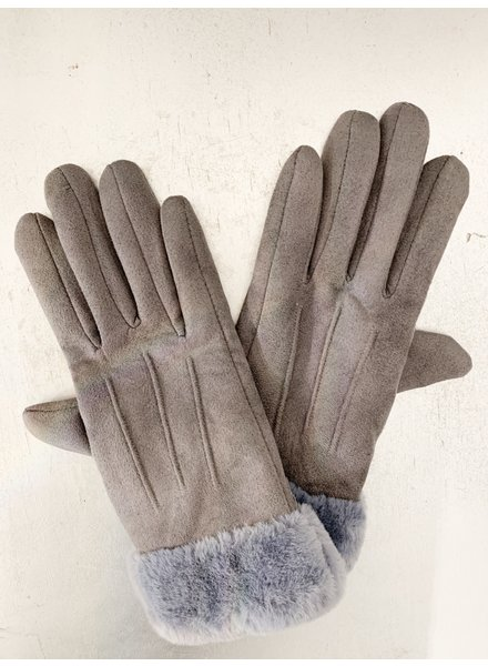 Nouveau Noir Oma Fleece Lined Gloves