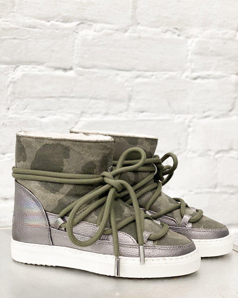 Inuikki Women Sneaker Camoflage Metallic Silver