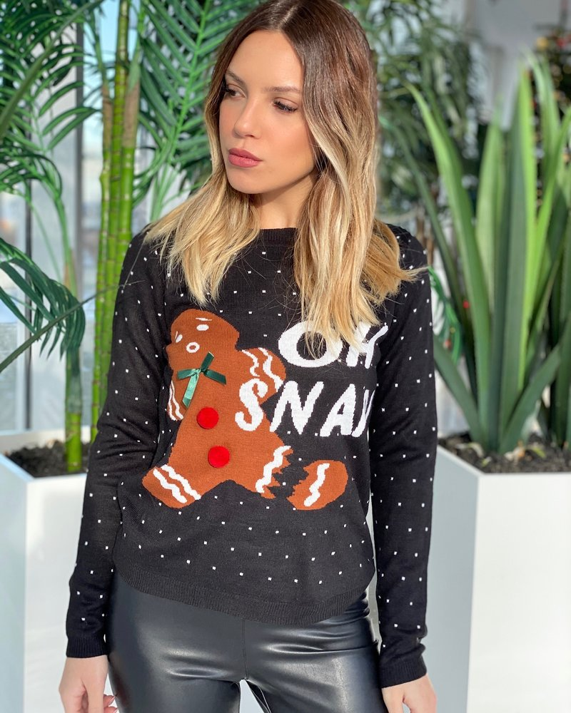 Nouveau Noir Oh Snap Holiday Sweater