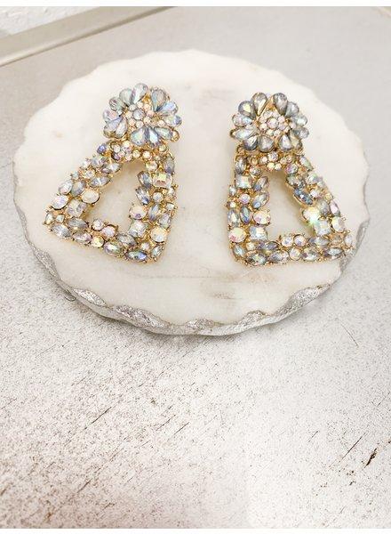 Nouveau Noir Mini Etta Rhinestone Earrings