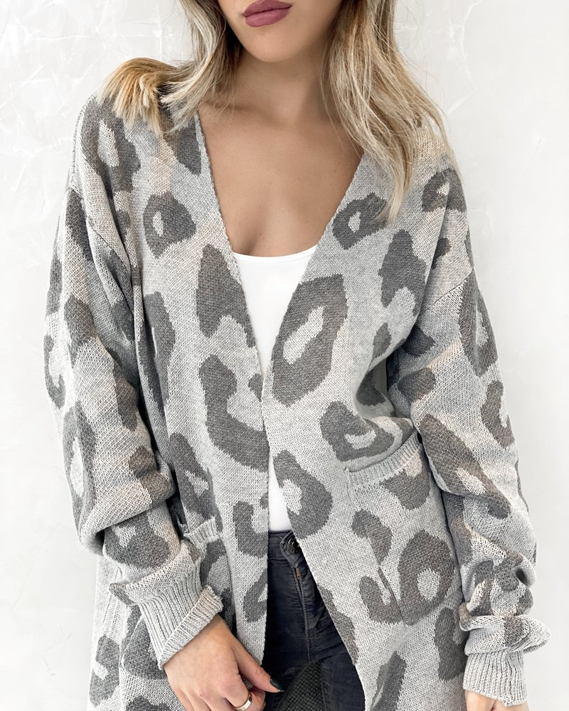Nouveau Noir Talia Leopard Cardigan