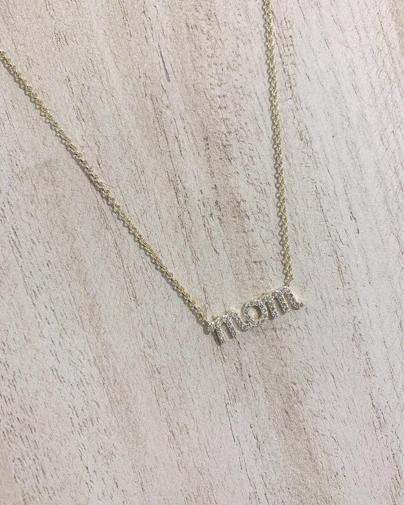 Nouveau Noir MOM Rhinestone Necklace