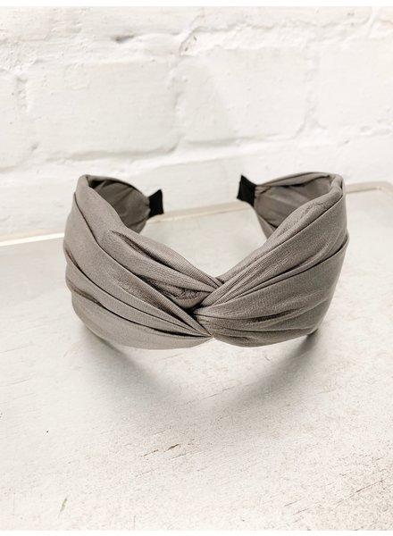 Nouveau Noir Angela PU Headband Grey