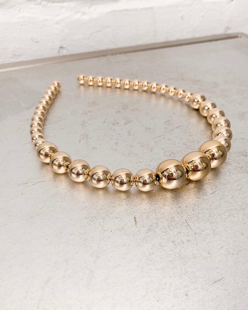 Nouveau Noir Aphrodite Gold Headband