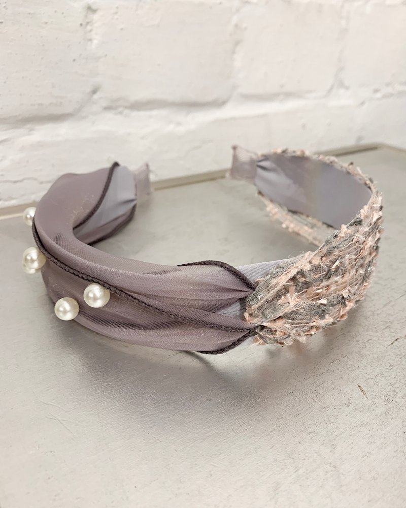 Nouveau Noir Lilah Headband Grey