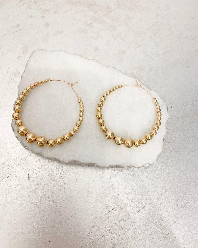 Nouveau Noir Zara Hoop Earrings