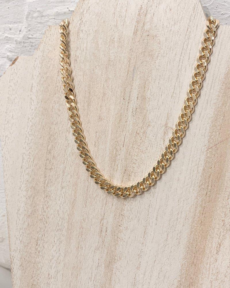 Nouveau Noir Cuban Link Necklace