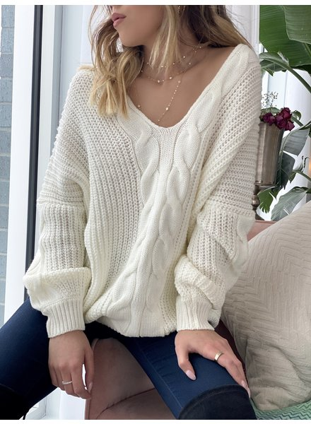 Nouveau Noir Madison Cable Knit Sweater