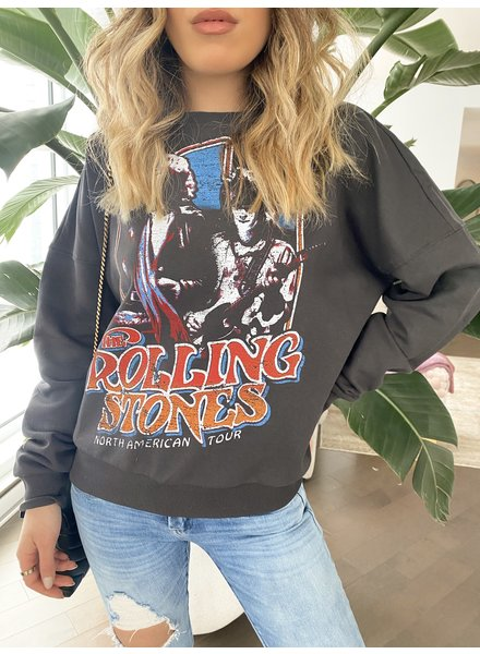 Nouveau Noir Rolling Stones Sweatshirt