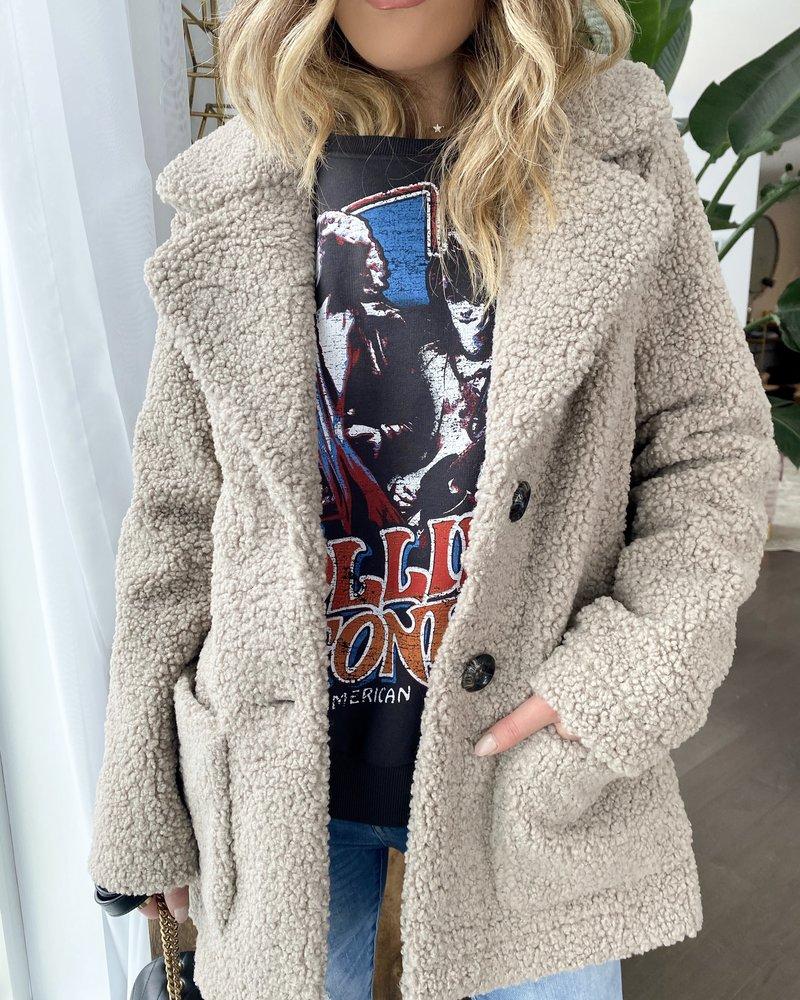 Nouveau Noir Filippa Teddy Coat