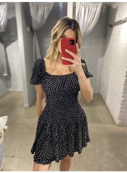 4AUFKMINI Naomi Mini Dress Black Spot