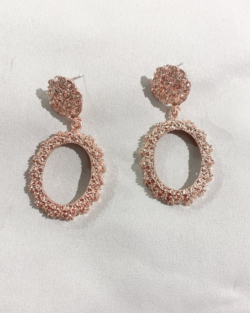 Nouveau Noir Eliana Earrings Rose Gold