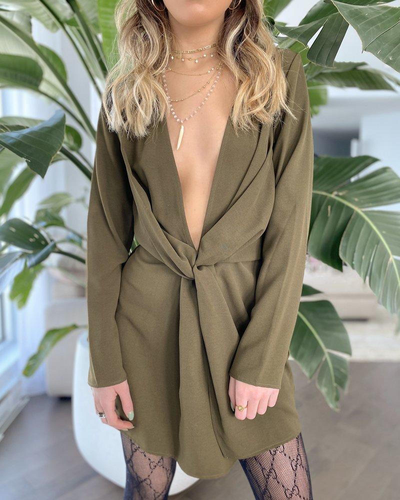 Nouveau Noir Penelope Plunge Dress