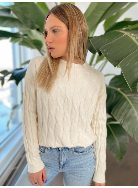 Nouveau Noir Adeline Cable Knit Sweater