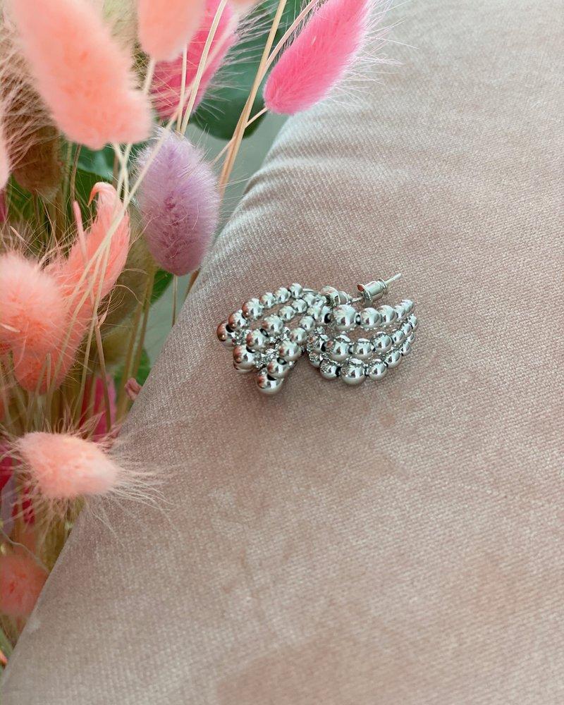 Nouveau Noir Layla Earrings Silver