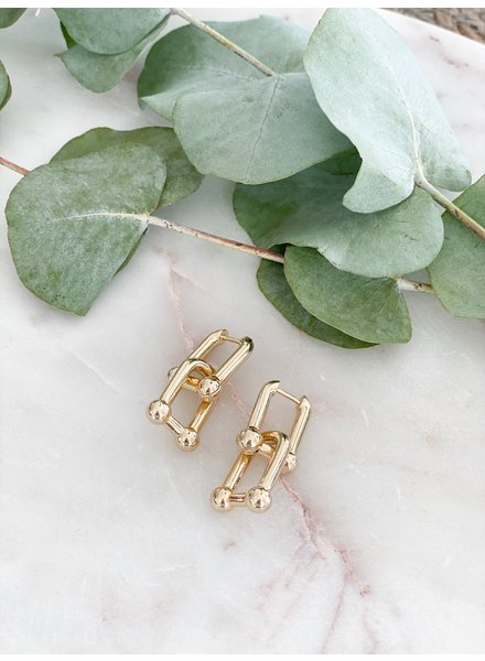 Nouveau Noir Baldwin Earrings Gold
