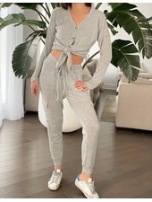 Nouveau Noir Snuggle Up Set Heather Grey