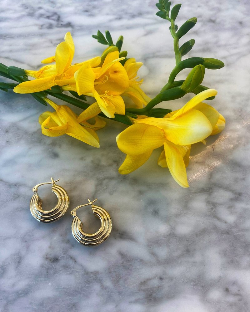 Nouveau Noir Florence Hoop Earrings