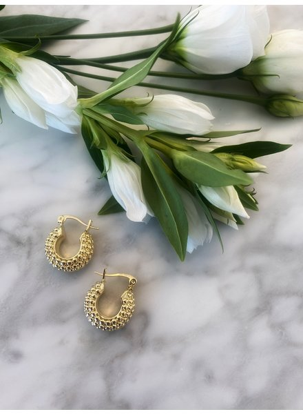 Nouveau Noir Venice Hoop Earrings