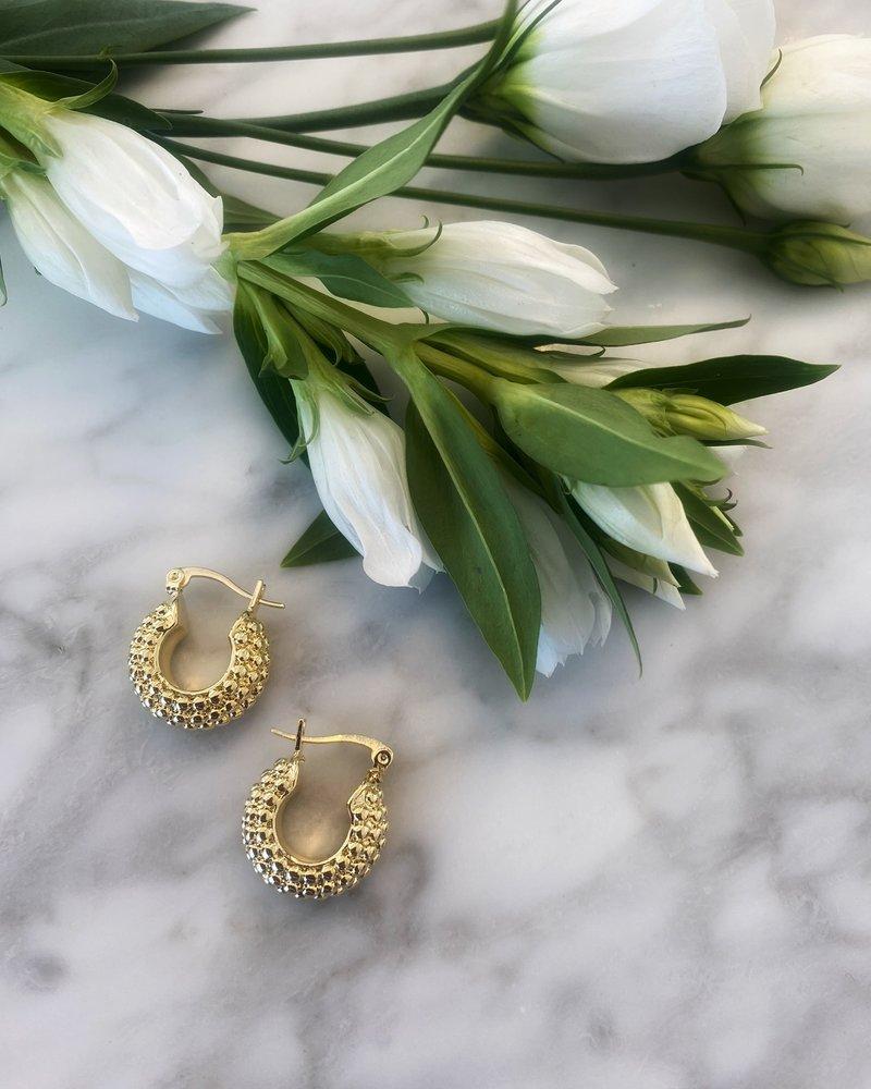 Nouveau Noir Venice Hoop Earrings