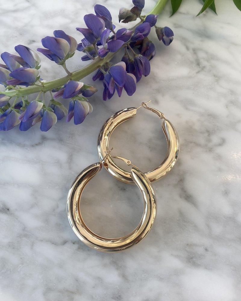 Nouveau Noir Mirabella Hoop Earrings