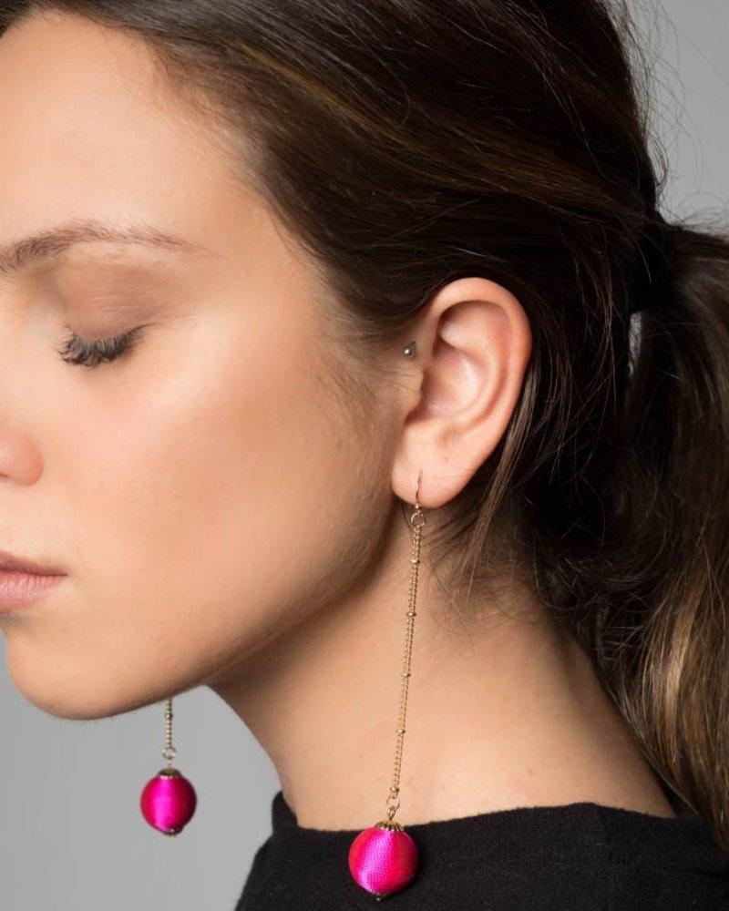 Nouveau Noir Nina Dangle Earrings in Pink