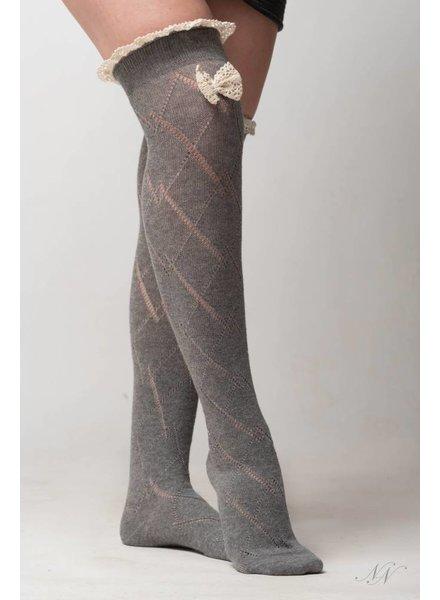 Nouveau Noir Legs For Days Socks Grey
