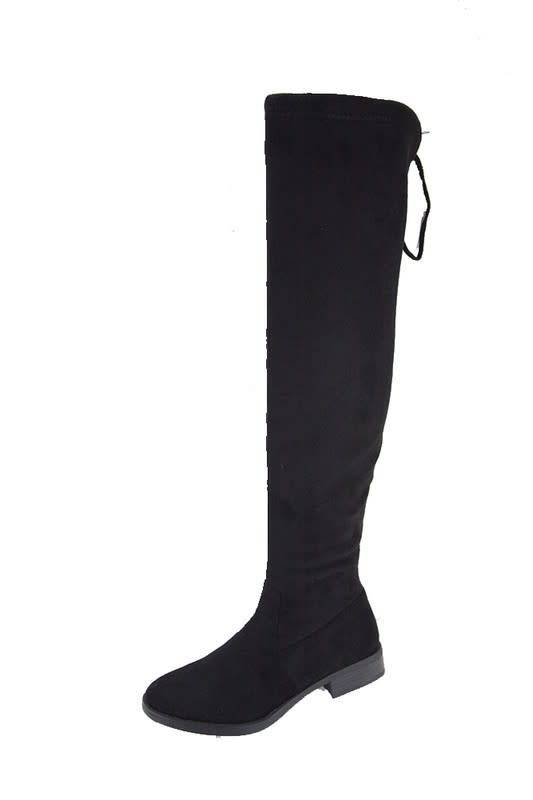 Skylar Drawstring Over The Knee Suede Boots