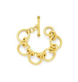 Julie Vos Catalina Large Bracelet Gold Pearl