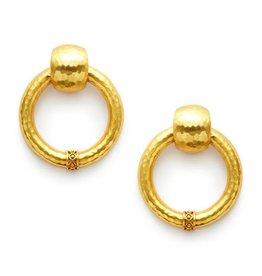Julie Vos Catalina Large Doorknocker Earring Gold