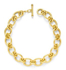 Julie Vos Catalina Large Link Gold Pearl Necklace