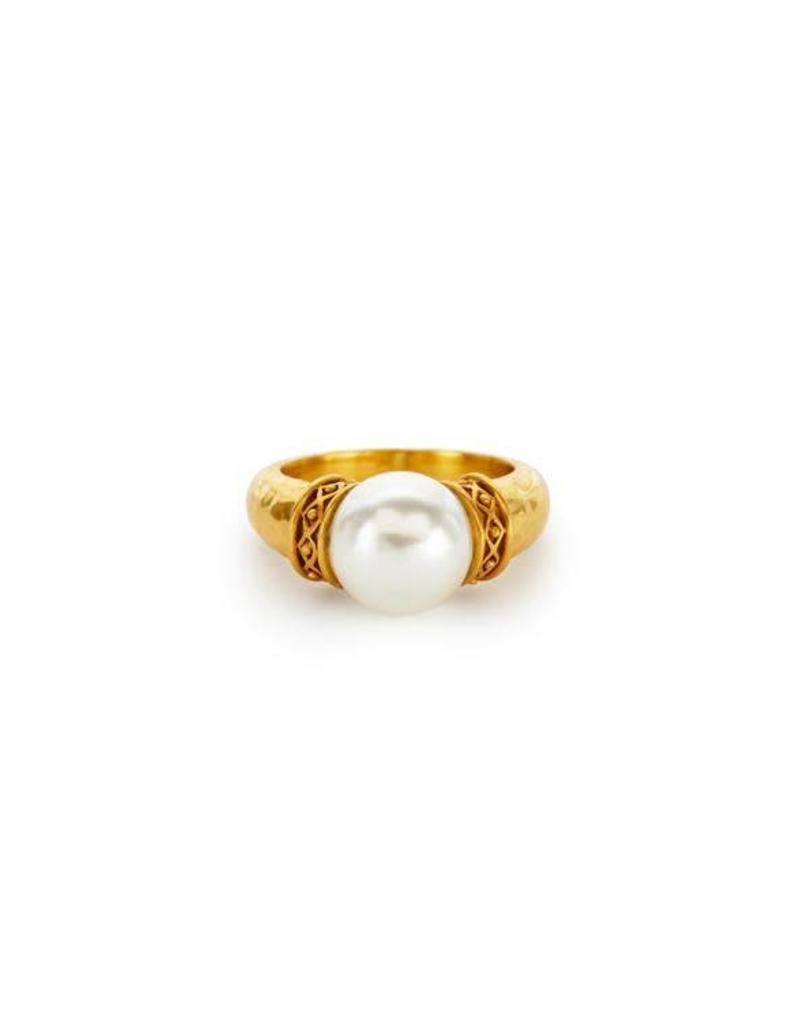 Julie Vos Catalina Gold Pearl Ring