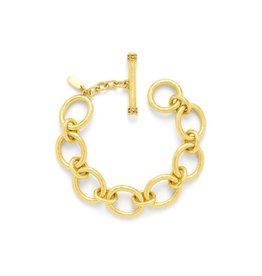 Julie Vos Catalina Small Link Gold Pearl Bracelet