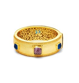 Julie Vos Catalina Statement Hinge Gold Bangle