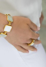 Julie Vos Catalina Stone Gold Bracelet