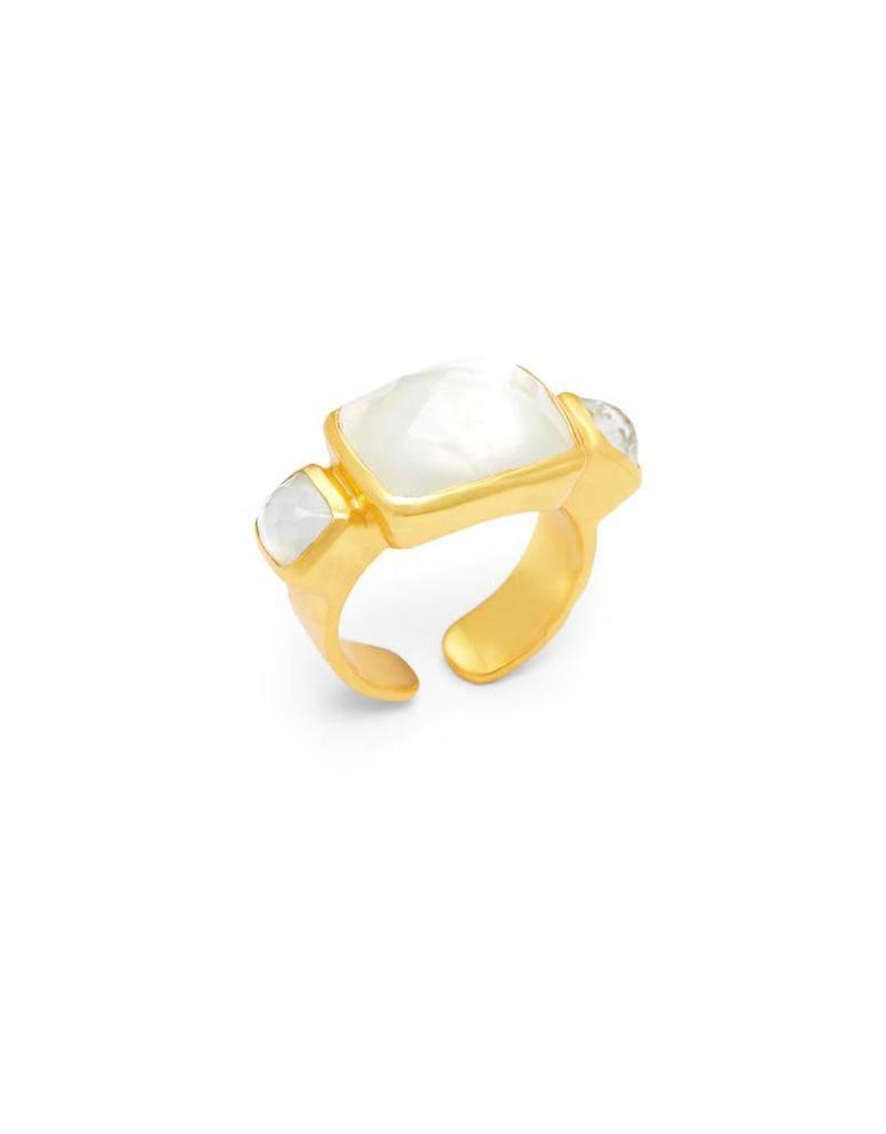 Julie Vos Catalina Gold Tri-Stone