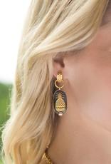 Julie Vos Charleston Mixed Metal Pearl Earring