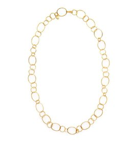 Julie Vos Colette Link Gold Necklace