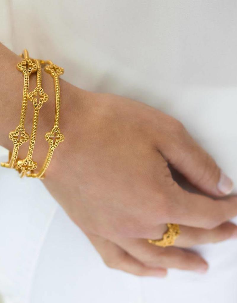 Julie Vos Florentine Gold Bangle