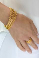 Julie Vos Florentine Stacking Bangle Gold