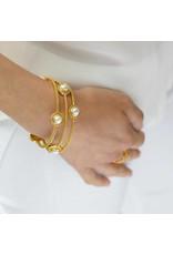Florentine Stone Bangle Gold