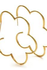 Julie Vos Gardenia Hoop Gold