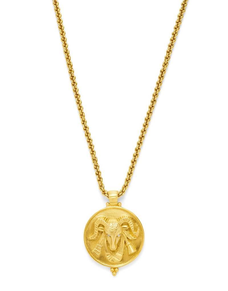 Julie Vos Ram Pendant Gold