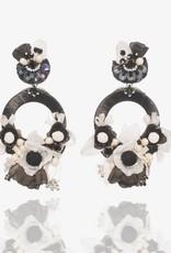 Ranjana Khan Black & White Flower Earrings