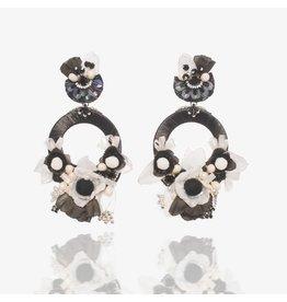 Black & White Flower Earrings