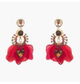 Ranjana Khan Ramos Pink Flower Earrings