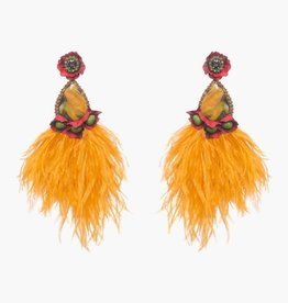 Ranjana Khan Santana Large Orange Clip On Earring